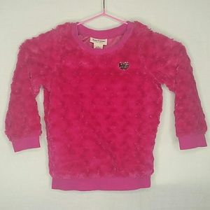 Girl's Fluffy Hot Pink Juicy Couture Sweater 4T